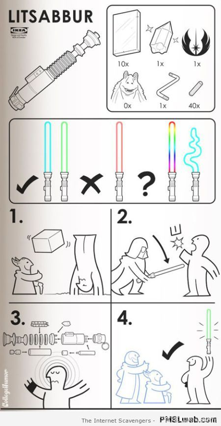 Ikea lightsaber – Funny Star Wars pics at PMSLweb.com
