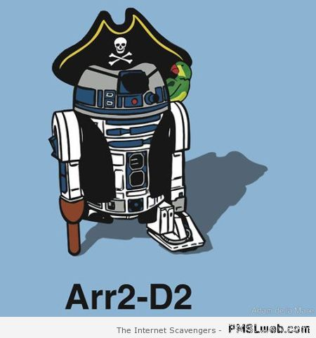 R2D2 pirate – Funny Star Wars pics at PMSLweb.com