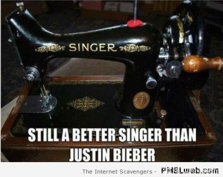 Still a better singer than Bieber at PMSLweb.com