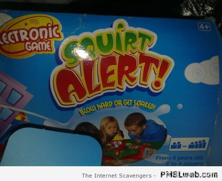 Squirt alert funny board game at PMSLweb.com