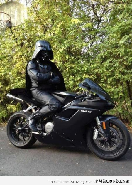 Darth Vader's motorbike at PMSLweb.com