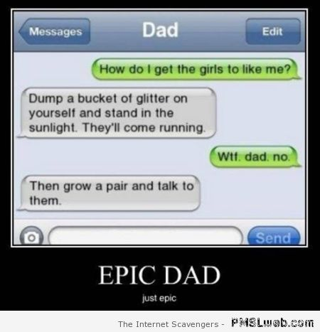 Epic dad on iPhone – Crazy weekend at PMSLweb.com