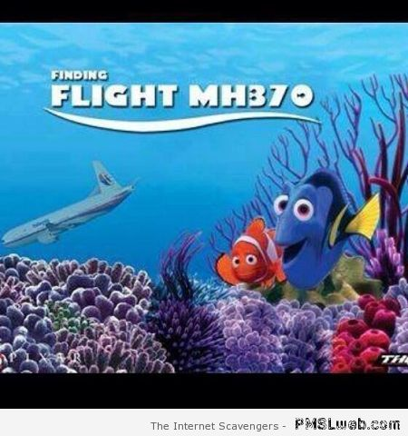 Finding flight MH 370 humor at PMSLweb.com