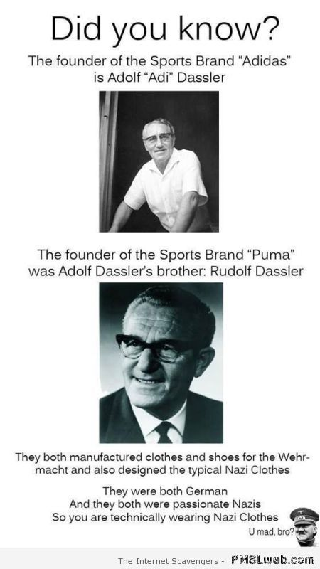 Puma and Adidas brothers at PMSLweb.com