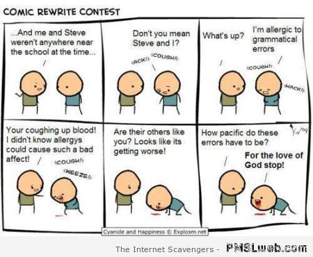 Allergic to grammatical errors at PMSLweb.com