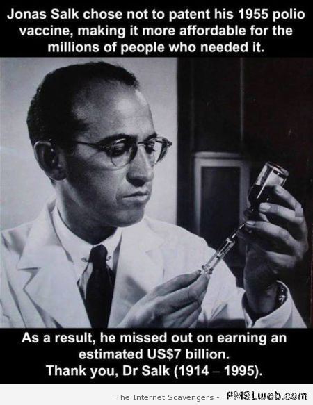 Doctor Salk and his polio vaccine at PMSLweb.com