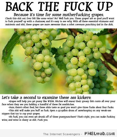 Crude grapes humor at PMSLweb.com