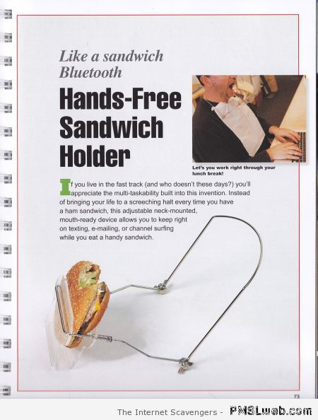 Hands free sandwich holder at PMSLweb.com