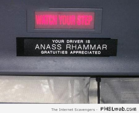 Funny bus driver name at PMSLweb.com