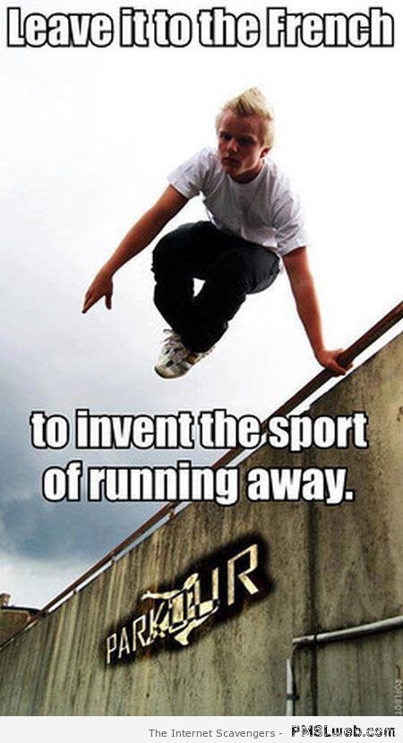 French invent the sport to run away meme at PMSLweb.com