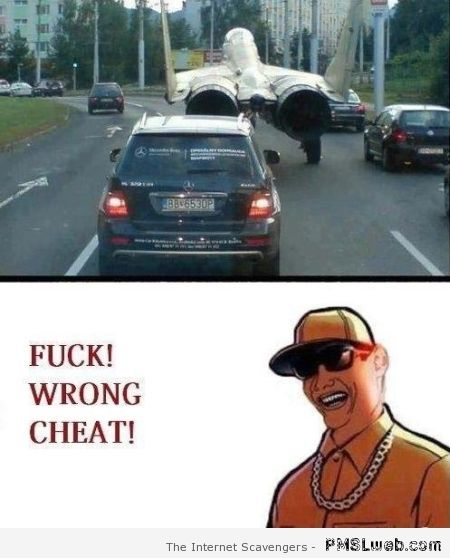 Wrong cheat code humor at PMSLweb.com