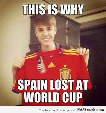 Why Spain lost the world cup meme at PMSLweb.com