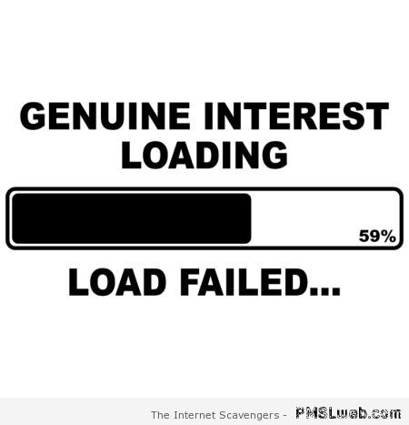 Genuine interest loading – Sarcastic and crude at PMSLweb.com
