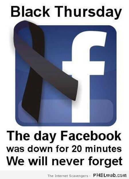 Facebook black Thursday at PMSLweb.com