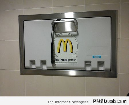 Mc Donald's baby hanging station – Silly Monday at PMSLweb.com