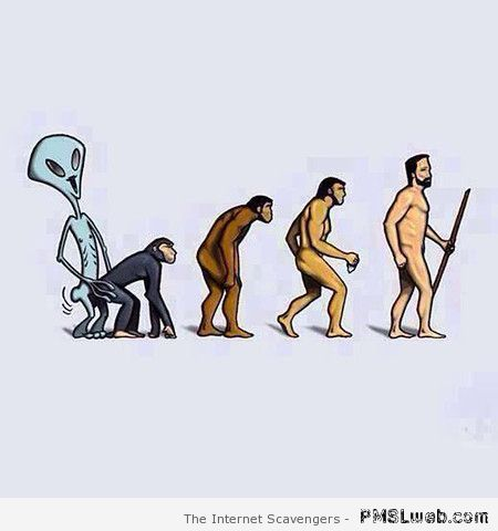 Evolution of man with aliens at PMSLweb.com
