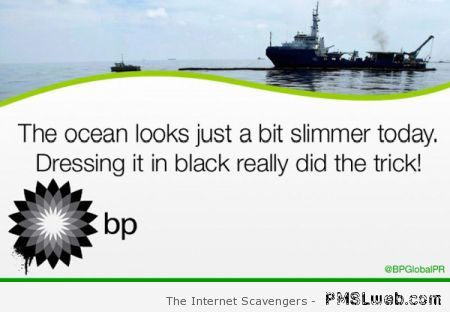 Sarcastic BP black sea at PMSLweb.com