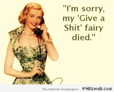 My give a shit fairy died – Wednesday fun at PMSLweb.com