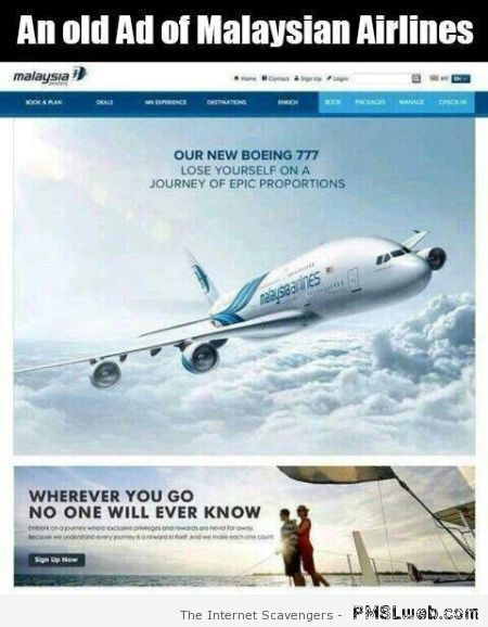 Old Malaysian Airlines advert at PMSLweb.com