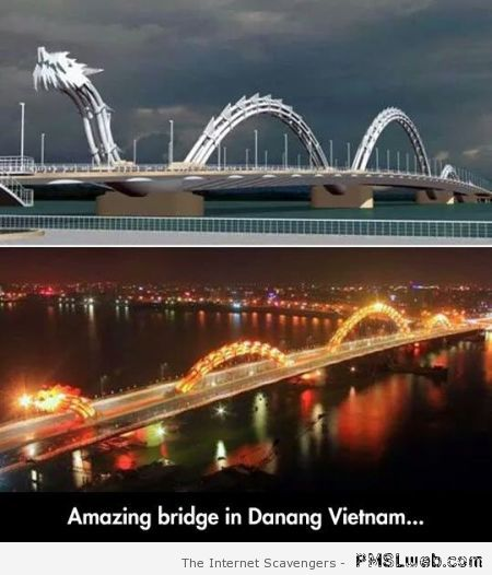 Dragon bridge in Danang Vietnam at PMSLweb.com