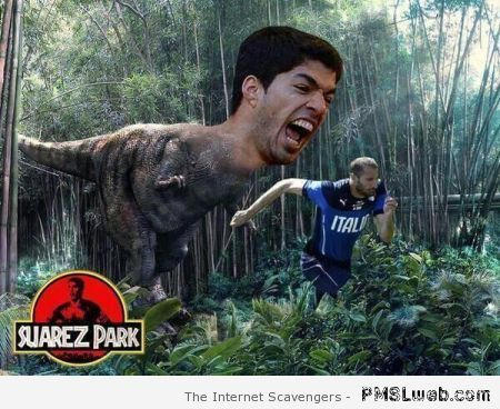 Jurassic park and Suarez humor at PMSLweb.com