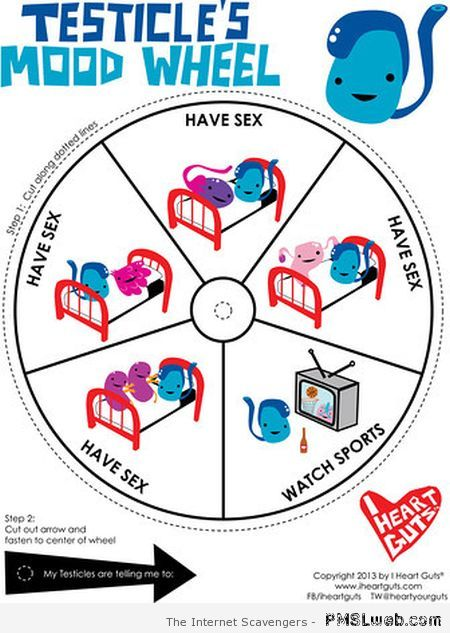 Testicle mood wheel at PMSLweb.com