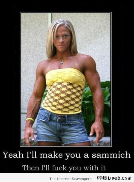 I'll make you a sandwich humor – Funny bone casting at PMSLweb.com