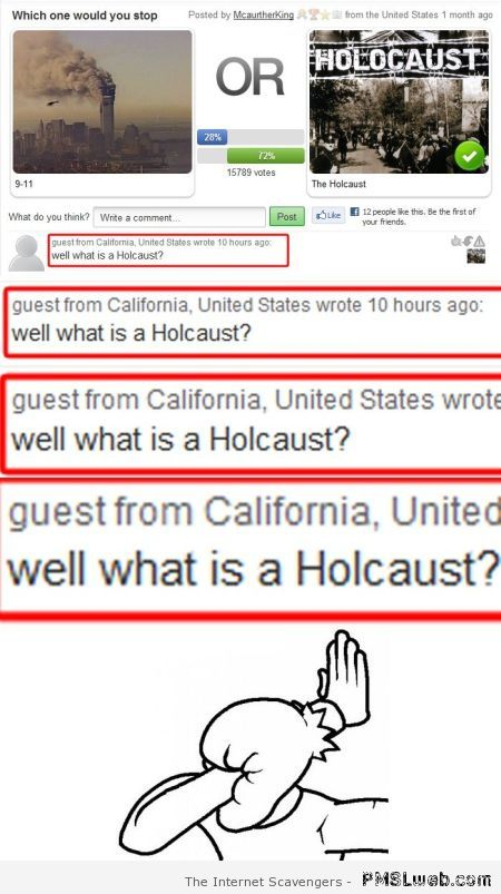 What is a holocaust fail at PMSLweb.com