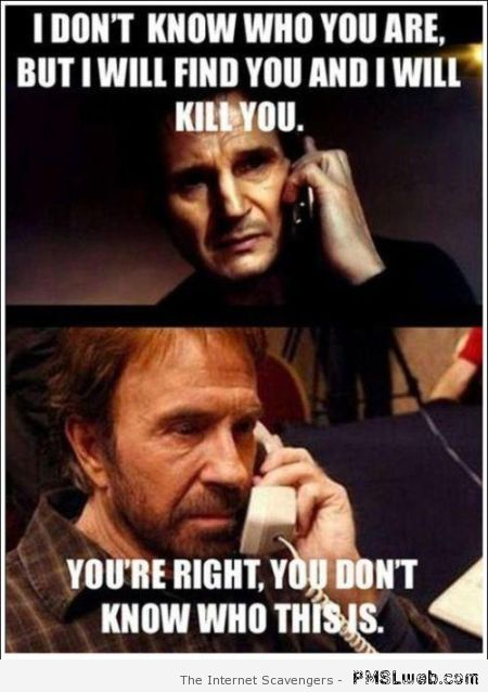 Liam Neeson and Chuck Norris meme at PMSLweb.com