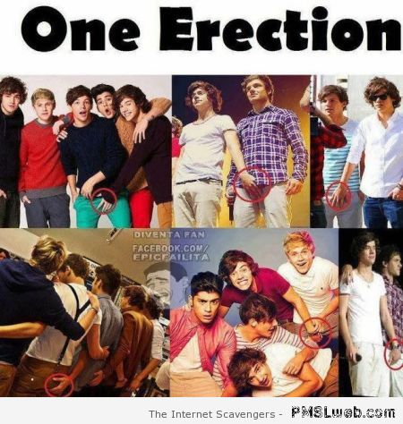 One erection and one direction funny at PMSLweb.com