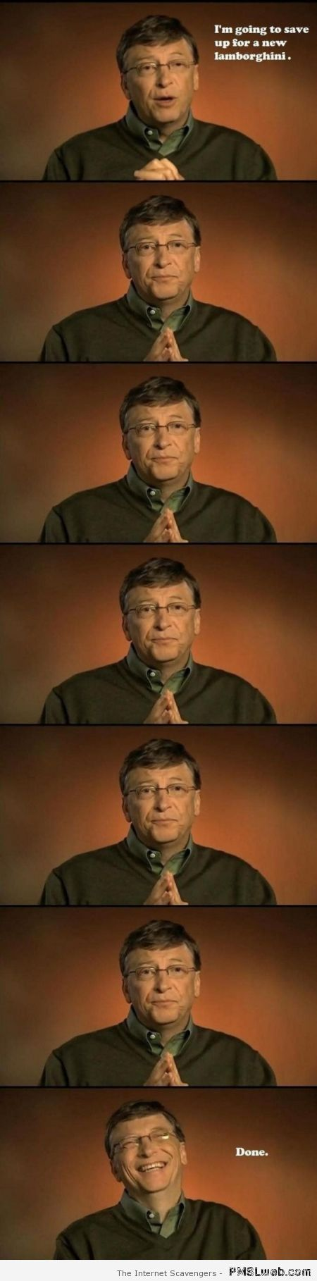 Bill Gates wants a Lamborghini at PMSLweb.com
