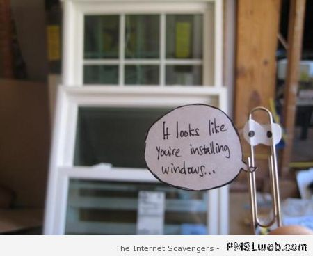 Funny Clippy for real windows at PMSLweb.com