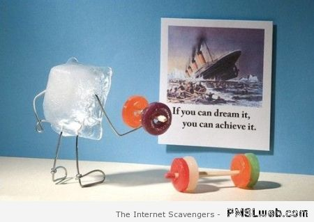 If you can dream it you can achieve it humor at PMSLweb.com