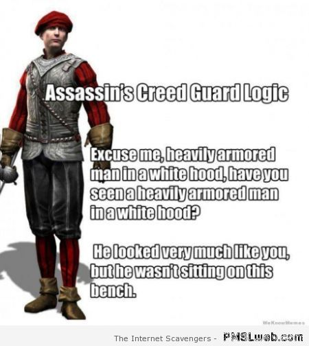 Assassin's creed guard logic at PMSLweb.com