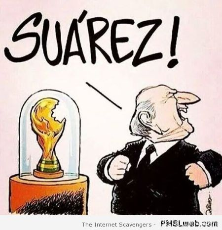 Suarez world cup humor at PMSLweb.com