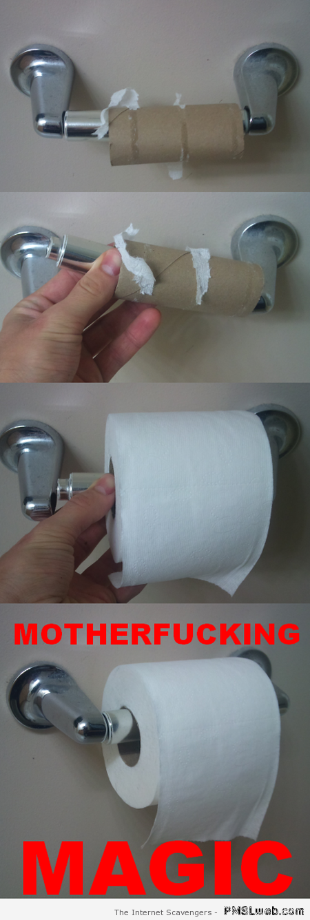 Changing the toilet roll sarcasm – Wednesday fun at PMSLweb.com