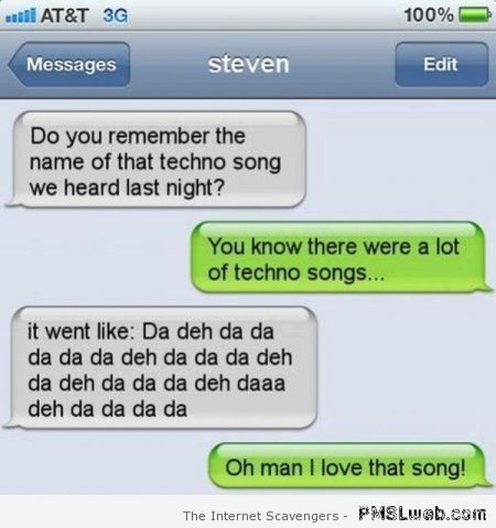 Funny iPhone techno song at PMSLweb.com