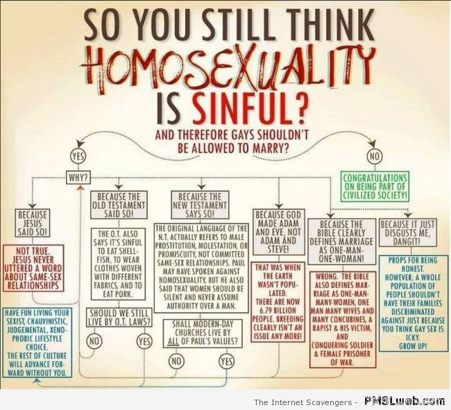 Do you think homosexuality is sinful humor at PMSLweb.com