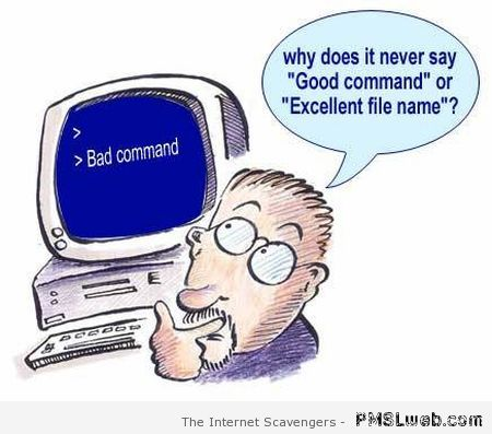 Funny computer bad command at PMSLweb.com