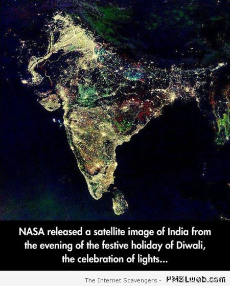 Satellite image of Diwali festive holiday at PMSLweb.com