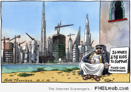 Funny homeless Arab cartoon at PMSLweb.com
