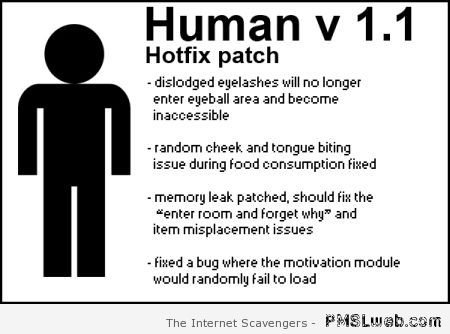 Human hotfix patch at PMSLweb.com