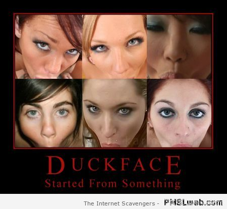 Funny history of duckface at PMSLweb.com