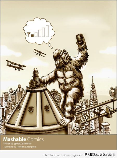 King kong searching for wi-fi signal at PMSLweb.com