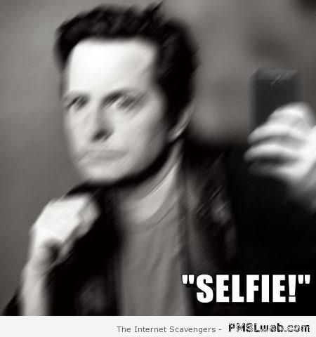 Michael J Fox selfie at PMSLweb.com