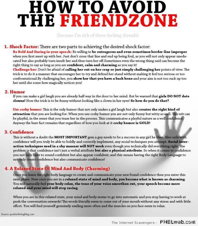 How to avoid the friendzone at PMSLweb.com