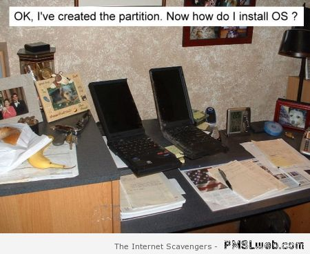 Creating a partition funny at PMSLweb.com