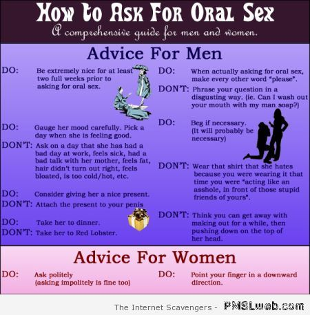 How to ask for oral sex funny at PMSLweb.com