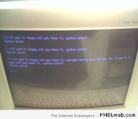 Syntax error humor at PMSLweb.com