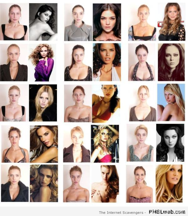 Top models without makeup at PMSLweb.com